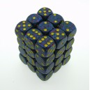 Set 36 dadi D6 12mm Speckled (giallo/blu sfumato)