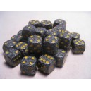 Set 36 dadi D6 12mm Speckled (giallo/grigio-nero)