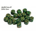 Set 36 dadi D6 Golden Recon 12mm Speckled (giallo/verde puntinato) CHX25935