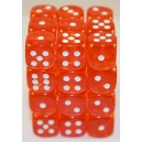 Set 36 dadi D6 12mm Translucent (arancio) CHX23803