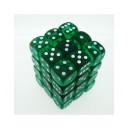 Set 36 dadi D6 12mm Translucent (verde) CHX23805