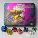 Set 7 dadi metallo (Metal Dice Set - Dice Gem Box) - 91743