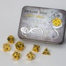 Set 7 dadi metallo (Metal Dice Set - Gold) - 91730