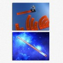 BUNDLE Set Sagome di Manovra + Righelli di Gittata (Arancio): Star Wars X-Wing