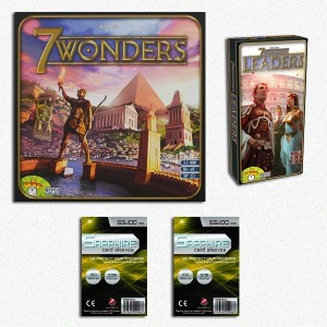 SAFEGAME 7 Wonders ITA + esp Leaders + 200 bustine protettive