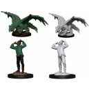Green Dragon Wyrmling and Afflicted Elf (2 Units) - D&D Nolzur's Marvelous Unpainted Miniatures