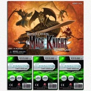 SAFEGAME Mage Knight Board Game + 300 bustine protettive