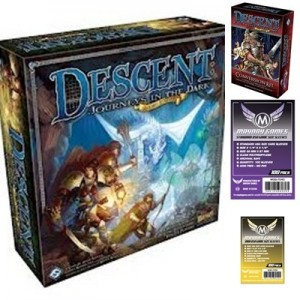 SAFEBUNDLE Descent - Journey in the Dark 2nd Ed. + Conversion kit + 500 bustine trasparenti adatte