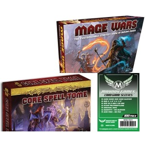 SAFEBUNDLE Mage Wars + Core Spell Tome + bustine protettive